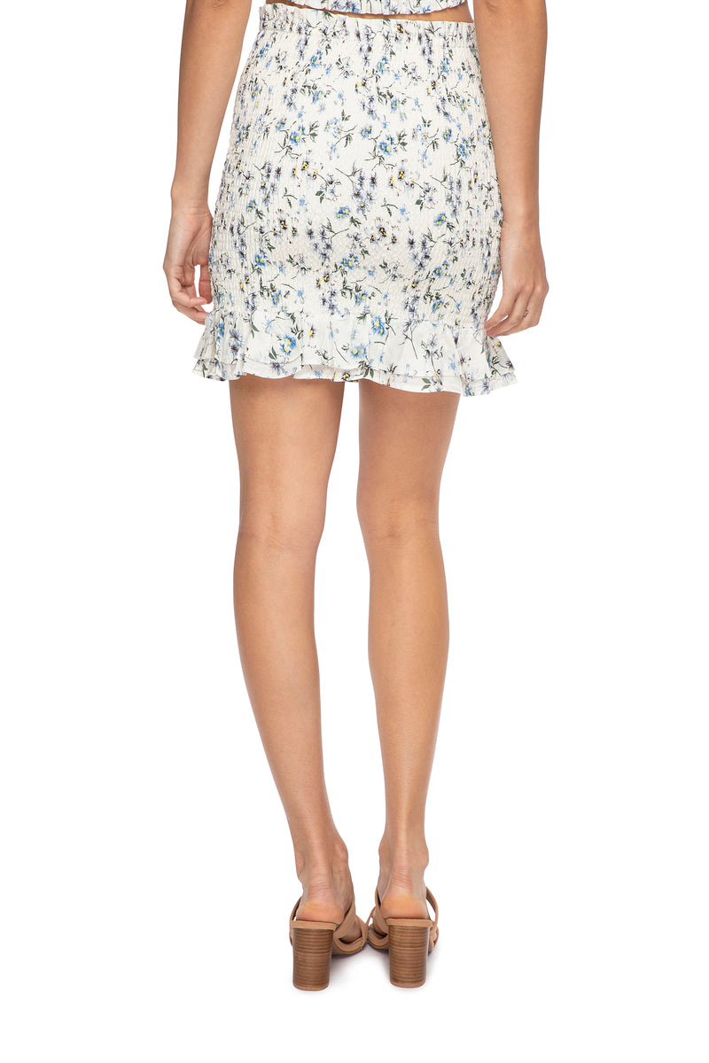 Amelie Shirred Skirt