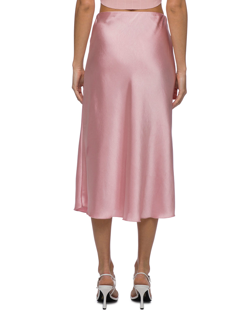 Lulu & Rose Tia Midi Skirt Pink Back View