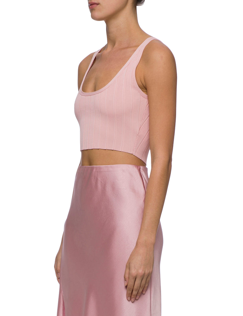 Lulu & Rose Quinn Knit Top Pink Side View