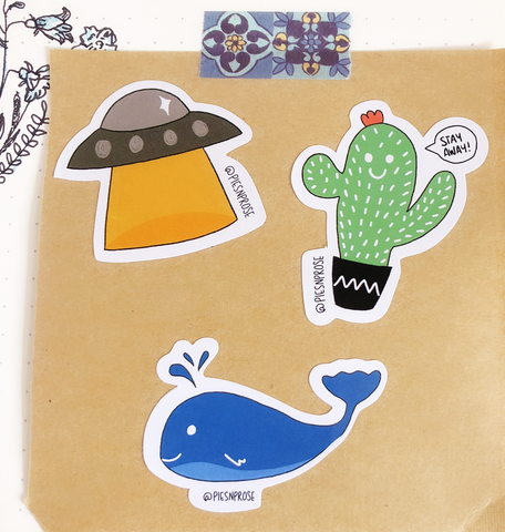 Pencil Box Exclusive stickers from Pies n' Prose
