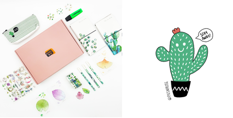 Pencil Box Exclusive Plant Bundle and Pies n Prose Sticker