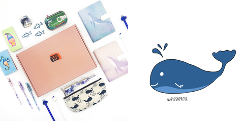 Pencil Box Exclusive Deep Sea Bundle with Pies n Prose Sticker Stationery Bundle