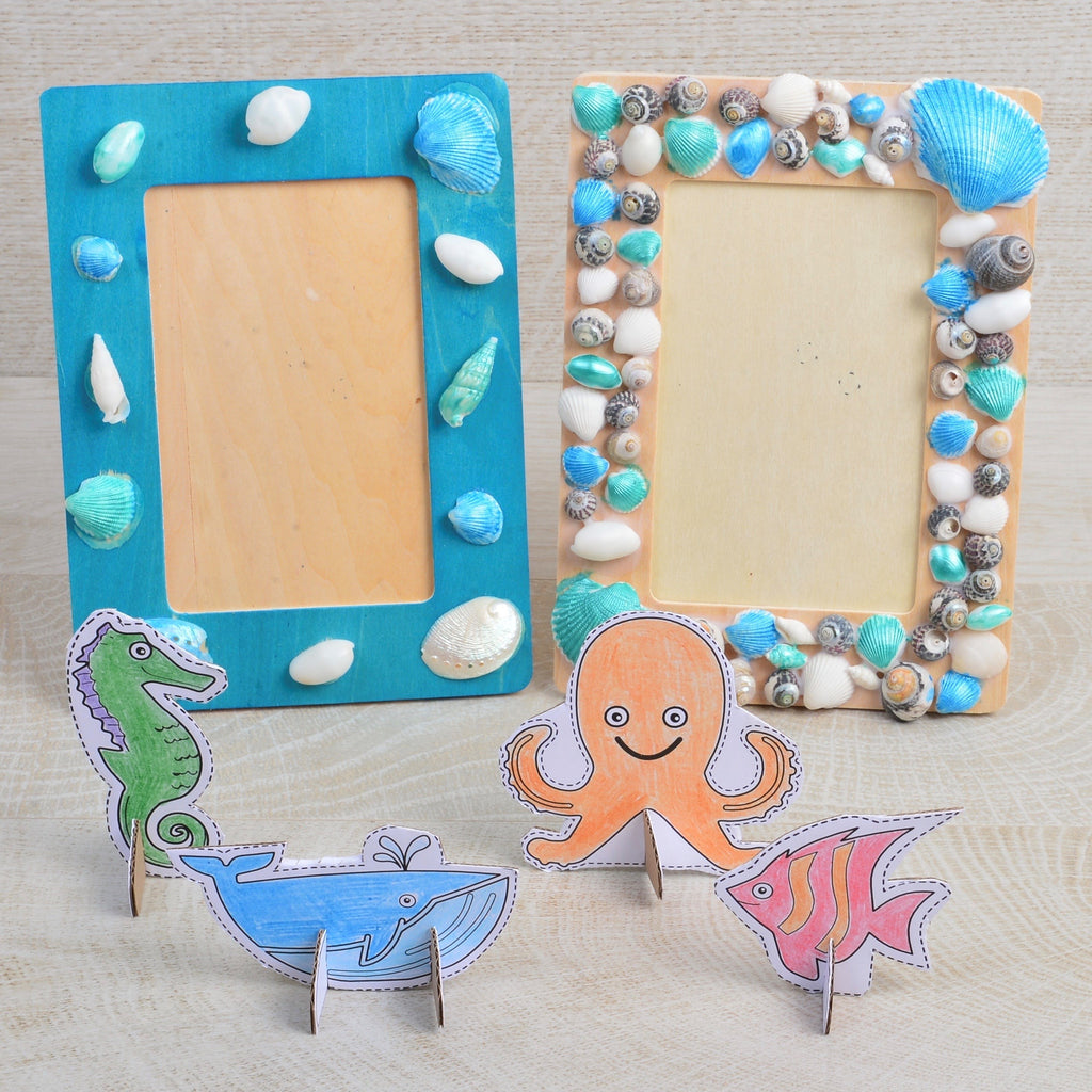 Make your own shell photo frame