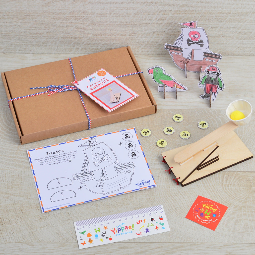 Make your own Catapult with choice of themed cardboard characters