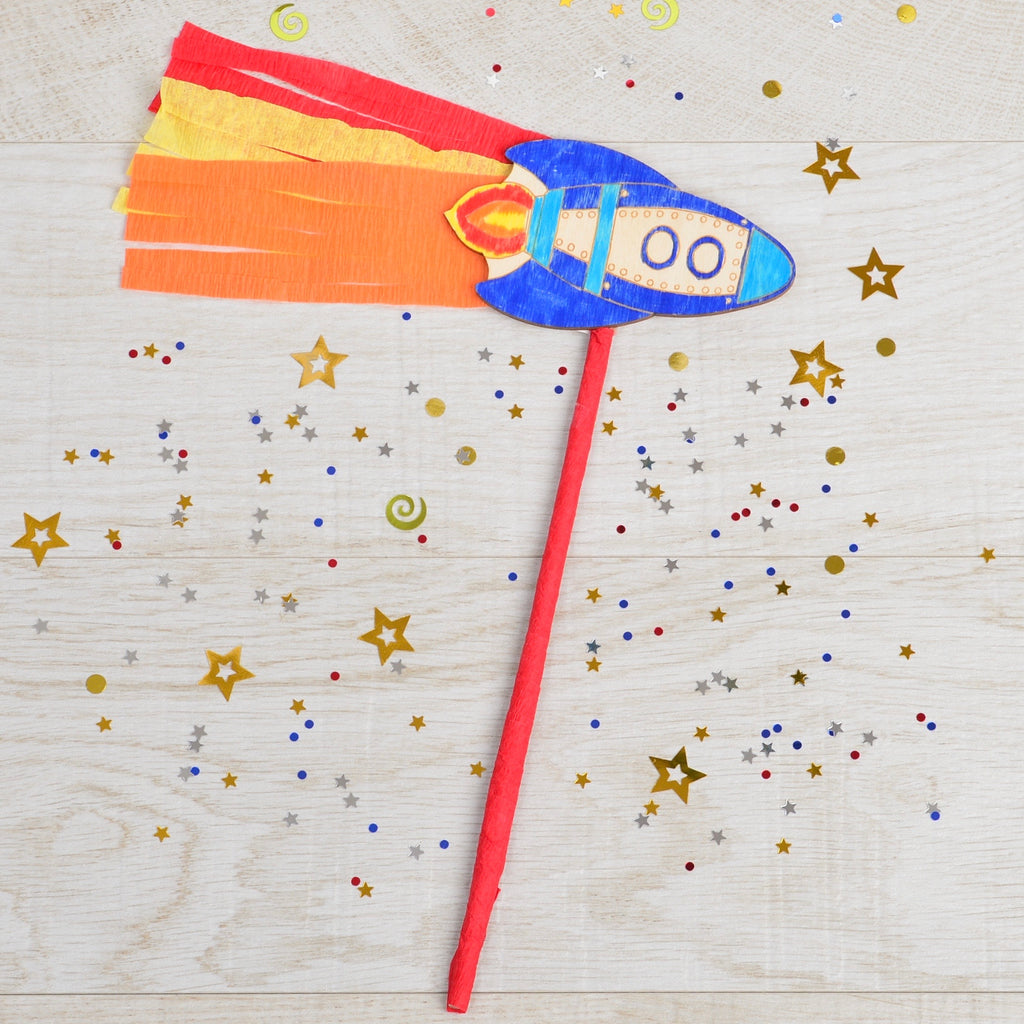 Make your own Rocket wand & Blast into Space