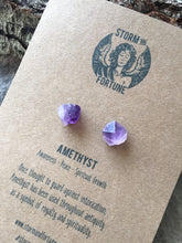 Load image into Gallery viewer, 'Apollo' Raw Amethyst Gemstone Earrings - Earrings