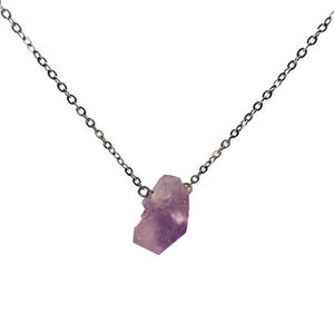 'Artemis' Raw Amethyst Gemstone Necklace - Necklace