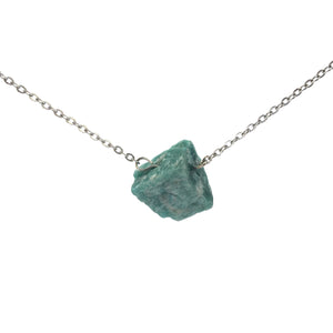 'Artemis' Raw Amazonite Gemstone Necklace - Necklace