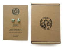 Load image into Gallery viewer, 'Apollo' Raw Amazonite Gemstone Earrings - Earrings