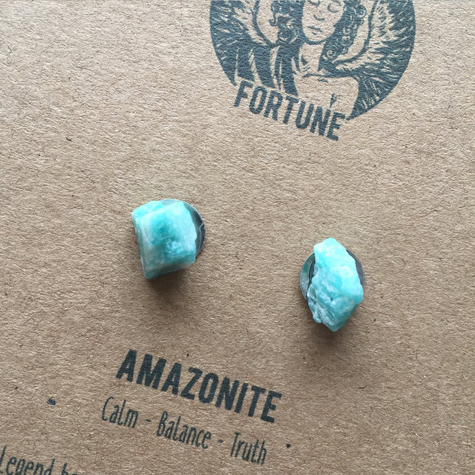 Dinky Amazonite Earrings - Earrings