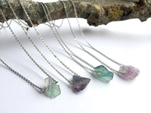 Load image into Gallery viewer, 'Artemis' Raw Fluorite Gemstone Necklace - Necklace