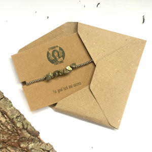'Freyja' Pyrite Bracelet - For Good Luck And Success
