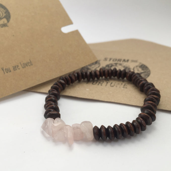 'Thor' Rose Quartz Bracelet - You Are Loved - Bracelet