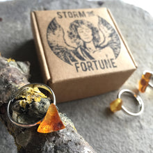 Load image into Gallery viewer, 'Persephone' Baltic Amber Ring In Silver Tone