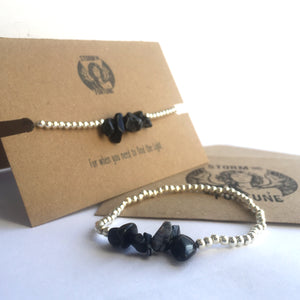 'Freyja' Snowflake Obsidian Bracelet - For When You Need To Find The Light - Bracelet