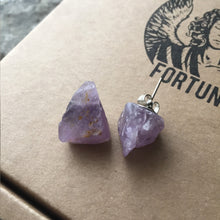 Load image into Gallery viewer, Freckled Amethyst Earrings - Earrings