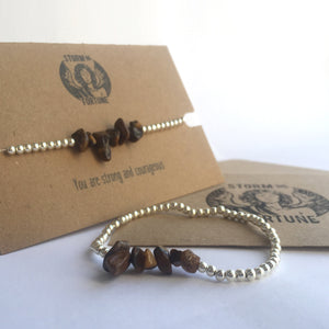 'Freyja' Tiger's Eye Bracelet - You Are Strong And Courageous - Bracelet