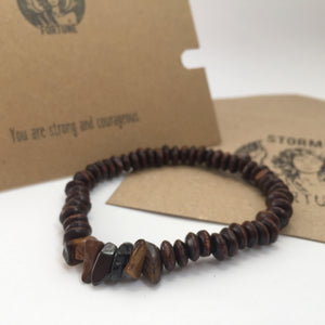 'Thor' Tiger's Eye Bracelet - You Are Strong And Courageous - Bracelet