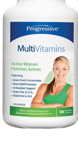 Progressive MultiVitamine Femme Active (120 caps)