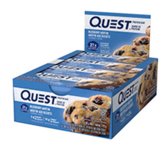 Quest Nutrition Protein Bar - Blueberry Muffin, 12/Box