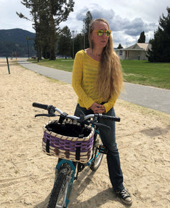 Purple Mountain Bike Baskets - Bike Baskets | Cool Bike Baskets