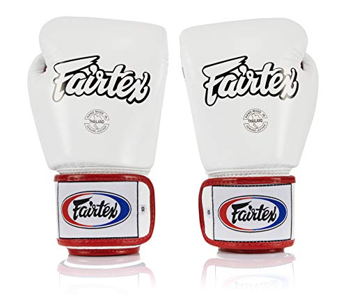 Fairtex BGV1 White/Black/Red Muay Thai Boxing Glove - Fairtex Store