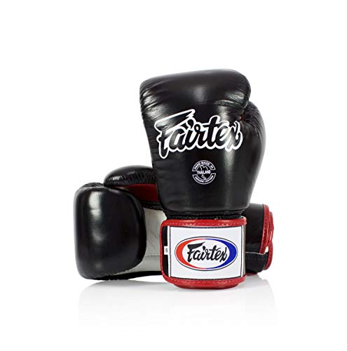 Fairtex BGV1 Black/White/Red Muay Thai Boxing Glove - Fairtex Store