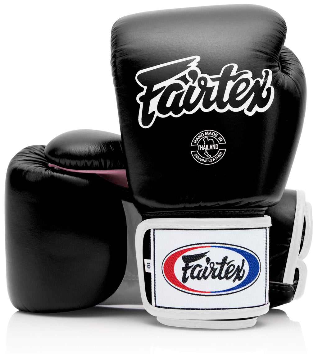 Fairtex BGV1 Black/White/Pink Muay Thai Boxing Training Sparring Gloves - Fairtex Store