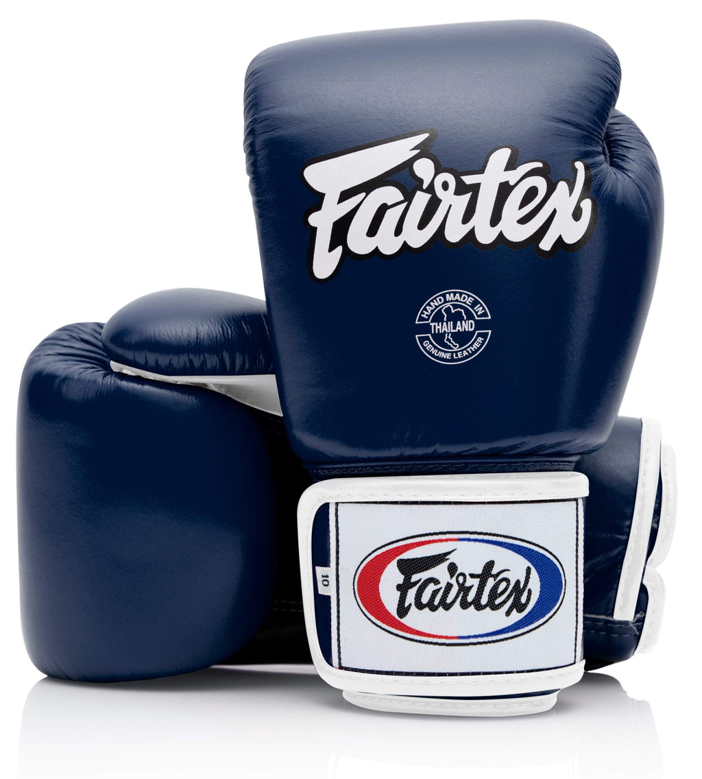 Fairtex BGV1 Blue/Black/White Muay Thai Boxing Training Sparring Gloves - Fairtex Store