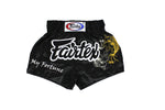 Fairtex BS0639 Fortune Black Muay Thai Boxing Short - Fairtex Store