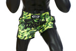 Fairtex Green Camo Slim Cut Muay Thai Boxing Short - Fairtex Store
