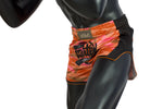 Fairtex Orange Camo Slim Cut Muay Thai Boxing Short - Fairtex Store