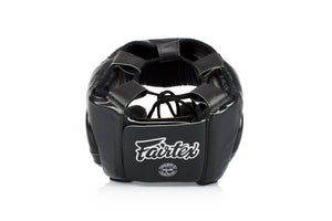 Fairtex HG13 Lace Up Headgear Head Guard - Black - Fairtex Store