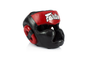 Fairtex HG13 Lace Up Headgear Head Guard - Red/Black - Fairtex Store