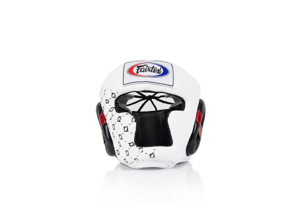Fairtex HG10 Headgear Head Guard Super Sparring - Black & White - Fairtex Store