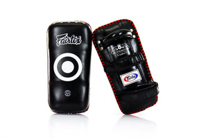 Fairtex KPLS2 Superior Kickboxing Curved Kick Pads - Cowhide Leather - Fairtex Store