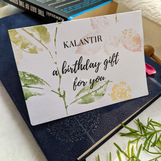 It's Birthday Time | Hand-painted Kalantir Gift Card | Physical Card