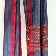 Blue & Red Coloured Pure Woollen Kullu Stole for Women | Handmade in Himachal