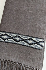 Graphite Gray Colored Pure Woollen Kullu Scarf for Men | Handmade in Himachal