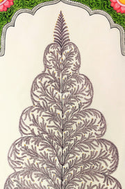 Closer view of the tree of life in this beautiful Saura Art from Odisha