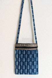 Full length view of the Block printed Sling bag