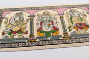 Closer view of Singing & Dancing Ganesha Pattachitra Painting