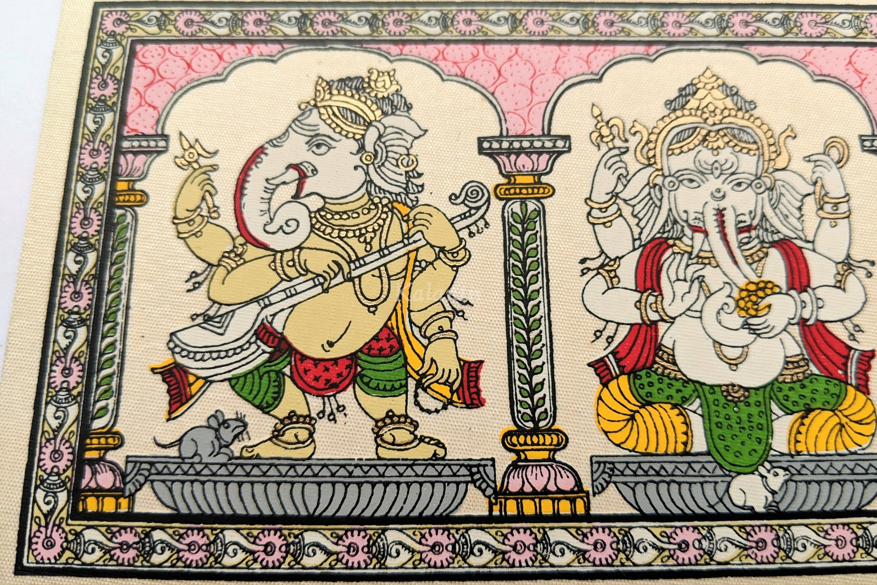 Singing and Dancing Ganapati or Lord Ganesha Painting | Pattachitra fr –  Kalantir