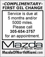 Mazda free lube oil filter change reminder vehicle window sticker