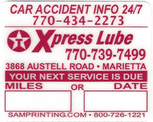Load image into Gallery viewer, express lube oil filter service reminder vehicle window sticker