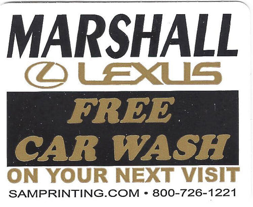 free car wash reminder vehicle window sticker