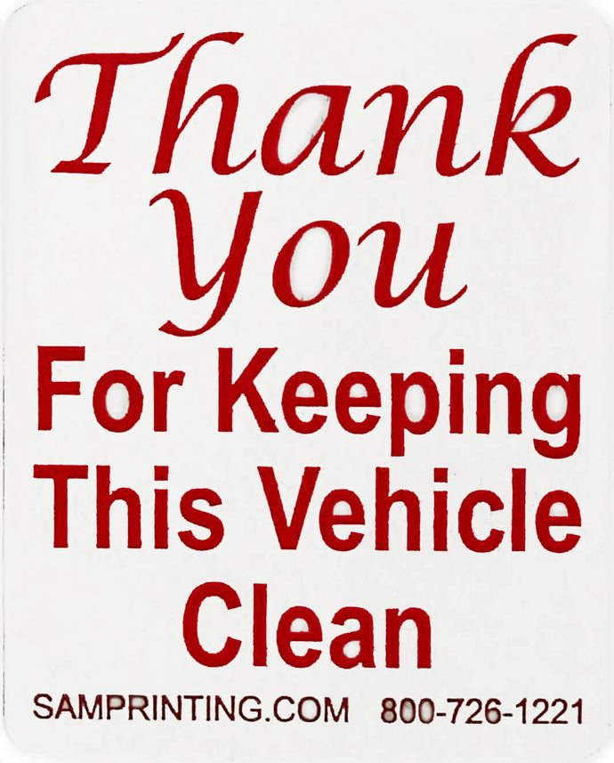 keep vehicle clean safety reminder vehicle window sticker
