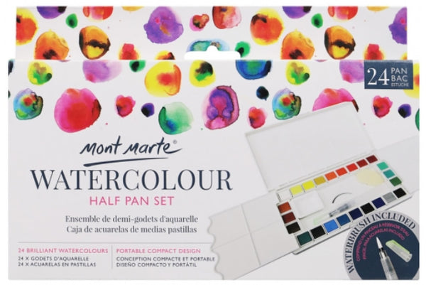 Premium Watercolour Half Pan Set 27pce