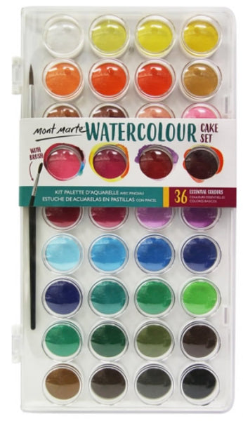 Watercolour Cake Set 37 Piece