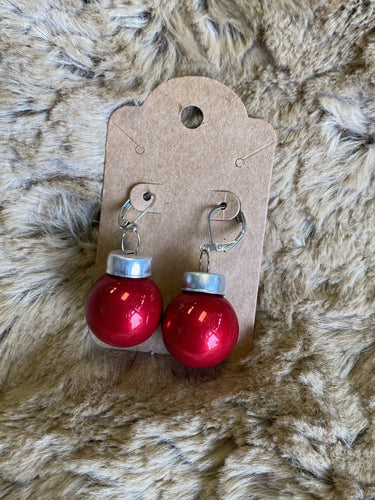 Red Ornament Earrings